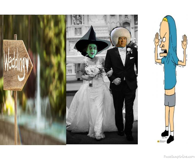 Wicked Witch of the West wedding to Gary Spivey with Cornholio as the best man