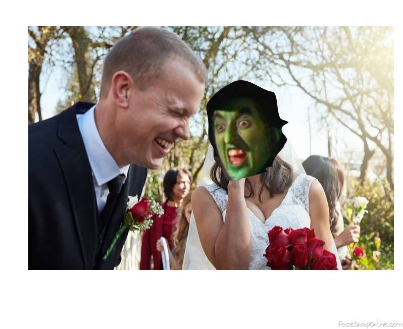 Wicked Witch of the West wedding to a guy