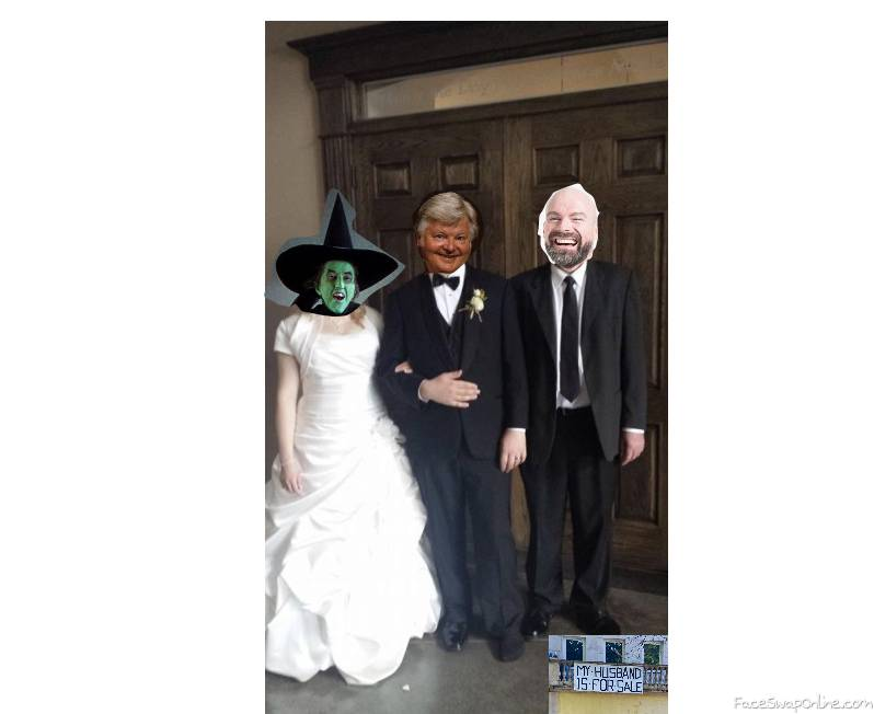 Wicked witch of the West wedding to Benny Hill