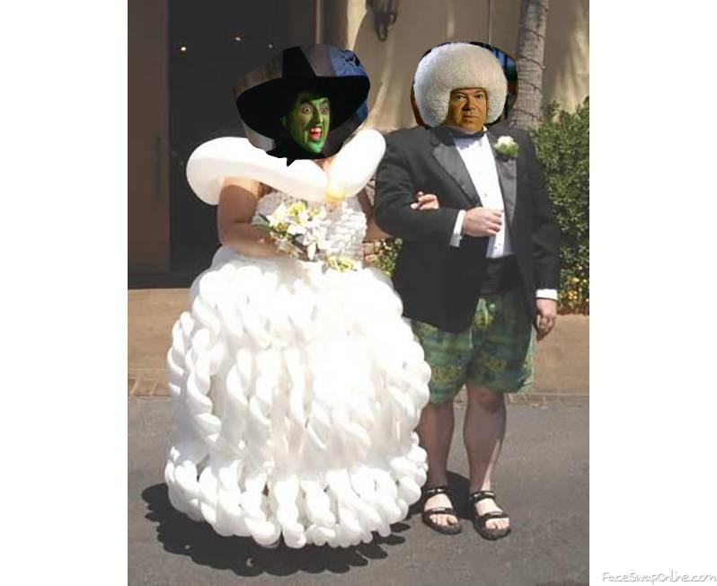 Wicked witch of the West wedding to Gary Spivey
