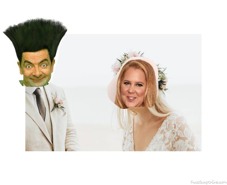 Mr Bean and Amy Schumer's wedding
