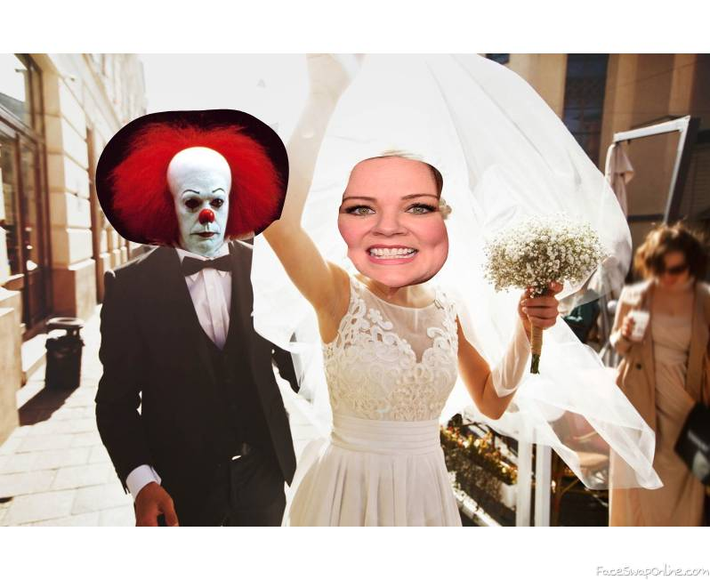 Pennywise and Melissa McCarthy's wedding reception