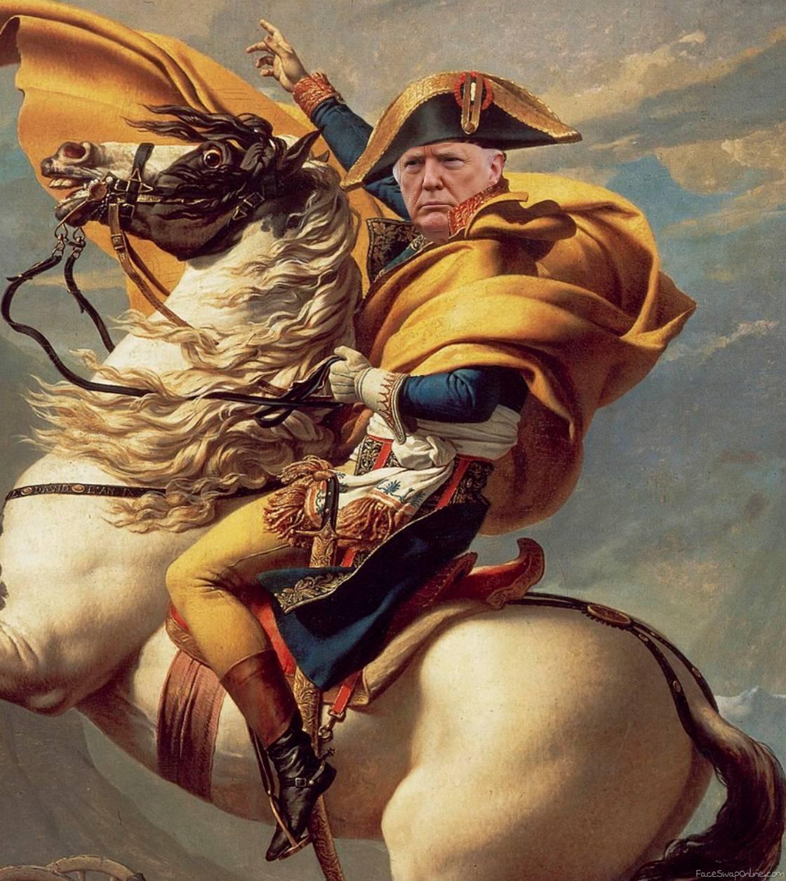 Trump Crossing the Alps
