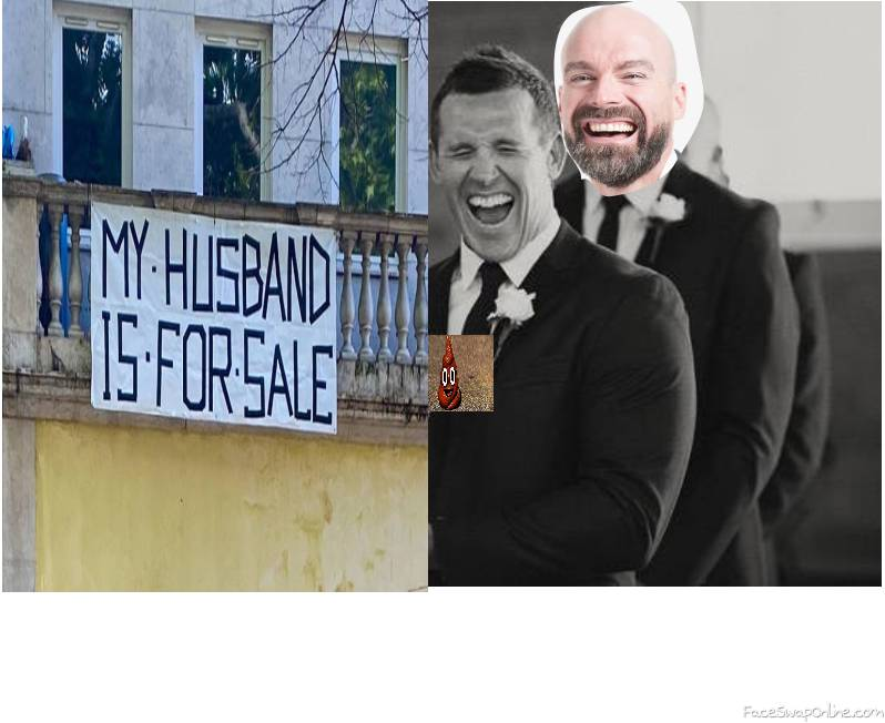 Two guys wedding, with a a truly funny sign and a bad omen...