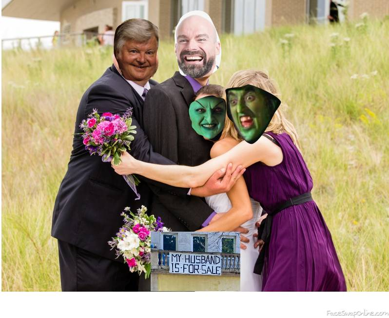 Wicked witch of the West's daughter wedding with the Wicked witch and Benny Hill as guests