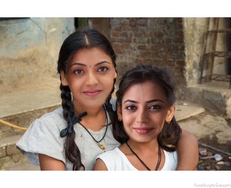 Kajal and Nisha as homeless children