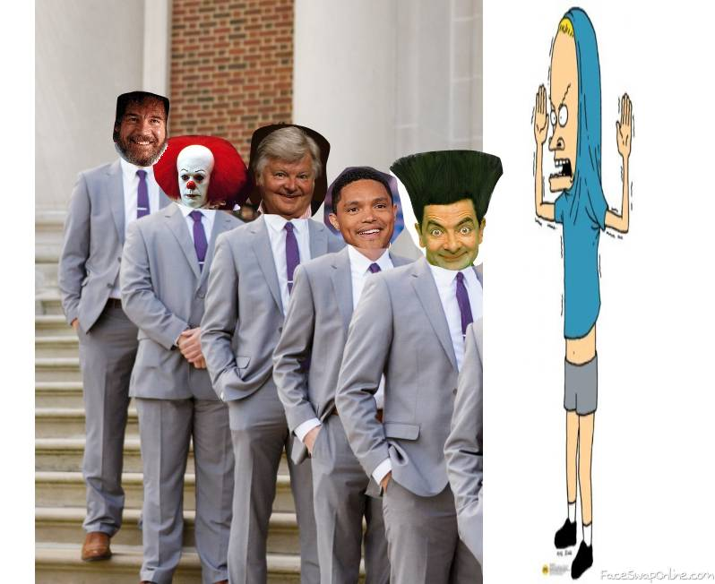 Groom Cornholio and his Groomsmen