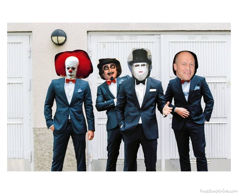 Groom Dr Creep and his groomsmen....