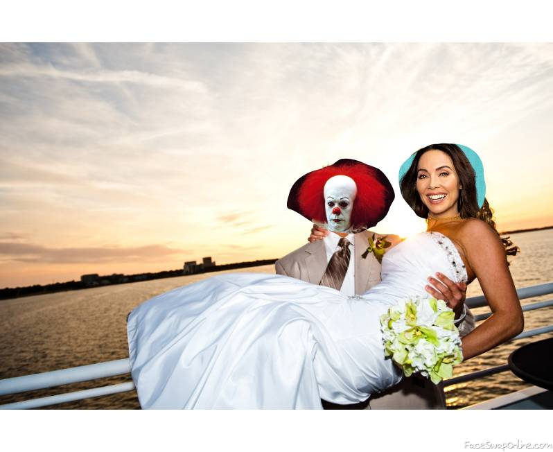 Pennywise and Whitney Cummings's beach wedding