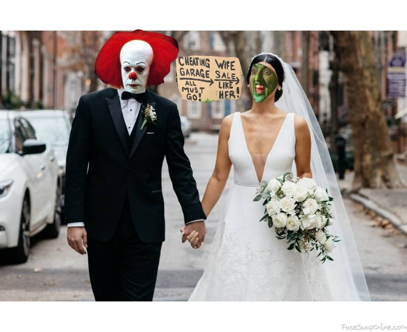 Pennywise and Wicked West of the West Wedding, with a telling sign...