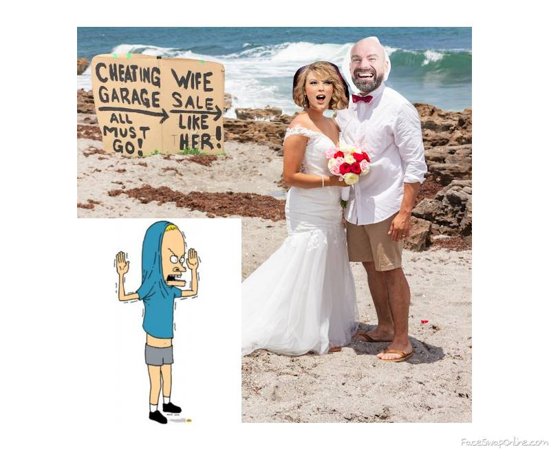 Taylor Swift's wedding to Bald Guy, and Cornholio as best man with an interesting offer...