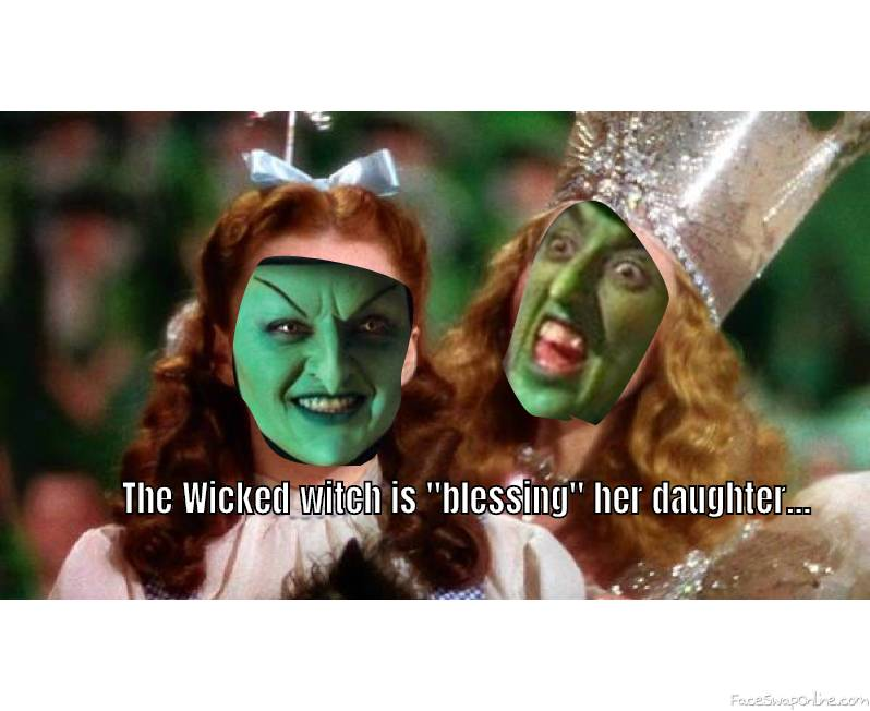 The Wicked Witch of The West is transforming Dorothy into her Daughter