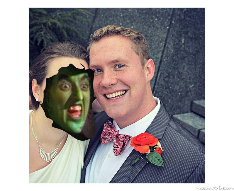 Wicked Witch of The Witch's Wedding to a guy