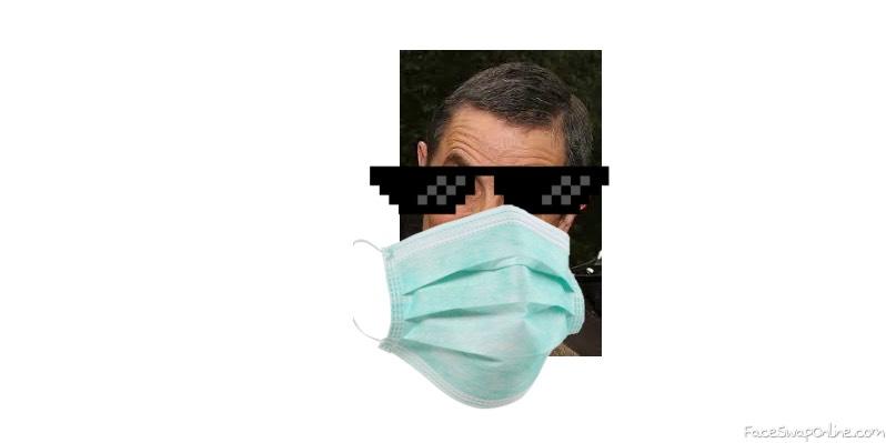 Cool Mask wearing Mr. Bean