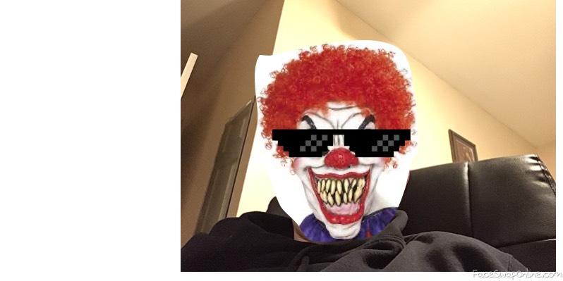 Ripped Creepy Clown Thug life