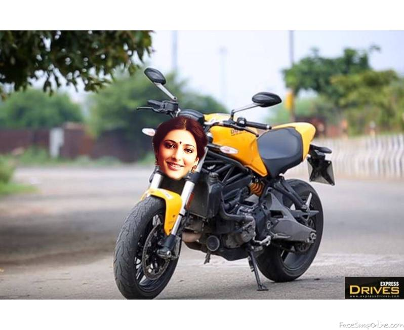 Shruti Hassan X Ducati Monster 821