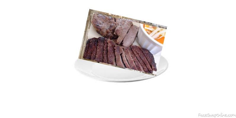 Venison on a plate