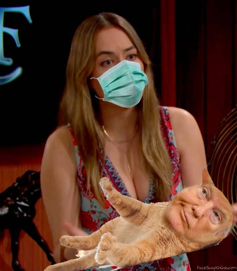 Wear a mask when your cat looks strange