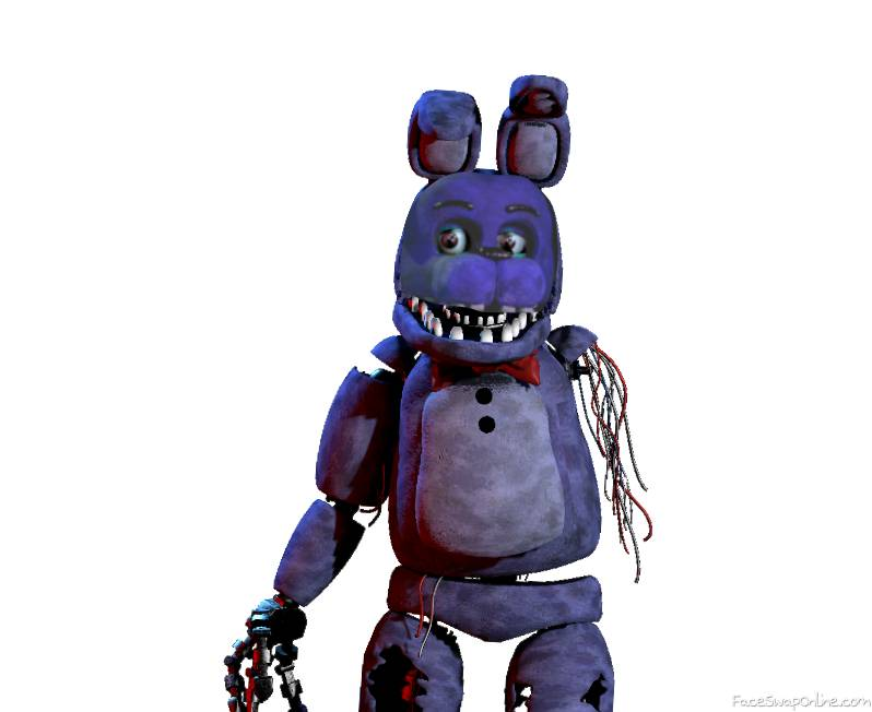 Withered bonnie with face