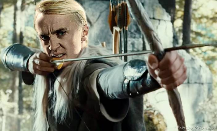 Draco Malfoy as Legolas
