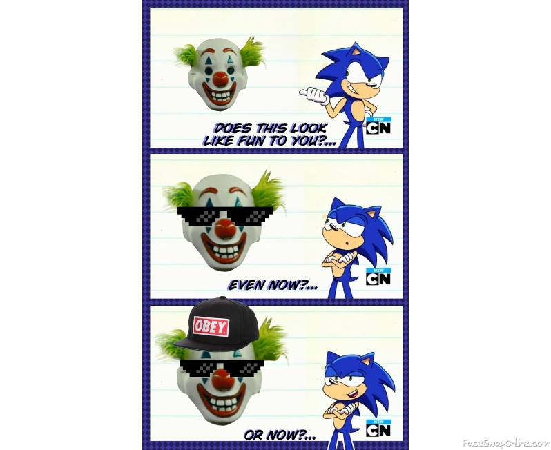 Fun clowns with sonic
