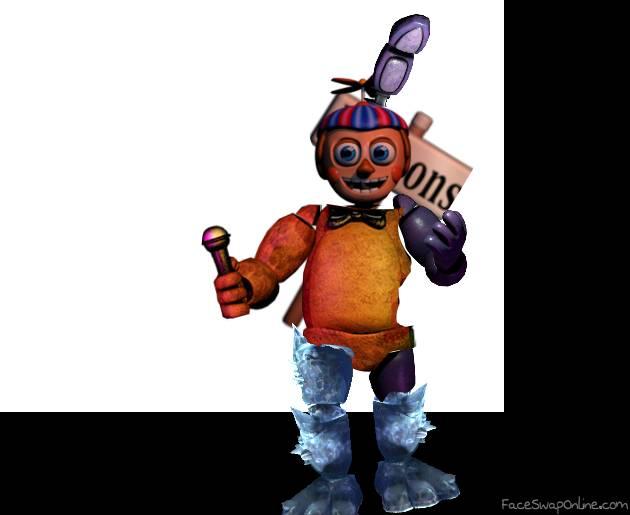 Fnaf Ar Bonnie + Freddy + Balloon Boy + Black ice Frostbear