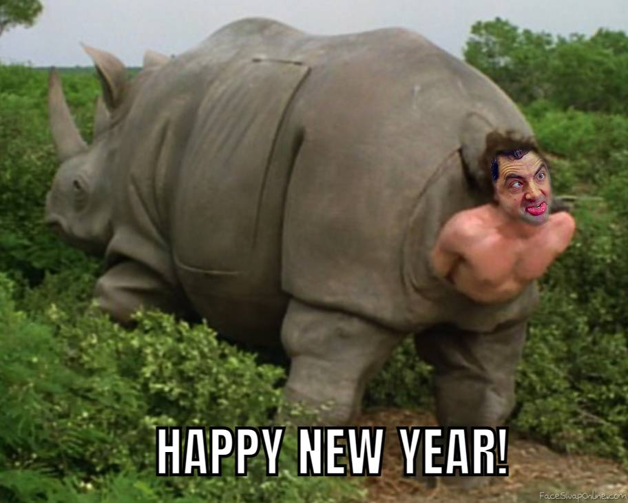 Mr. Bean coming out of Rhino