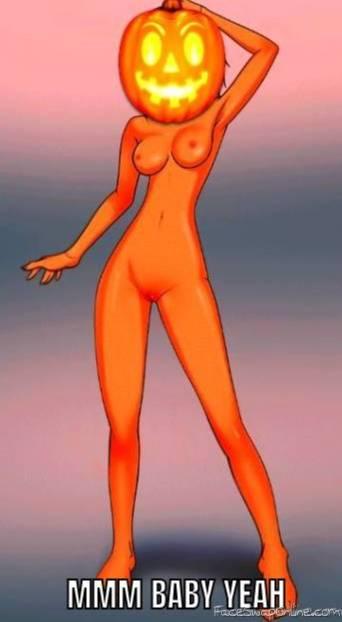 Sexy Naked Pumpkin