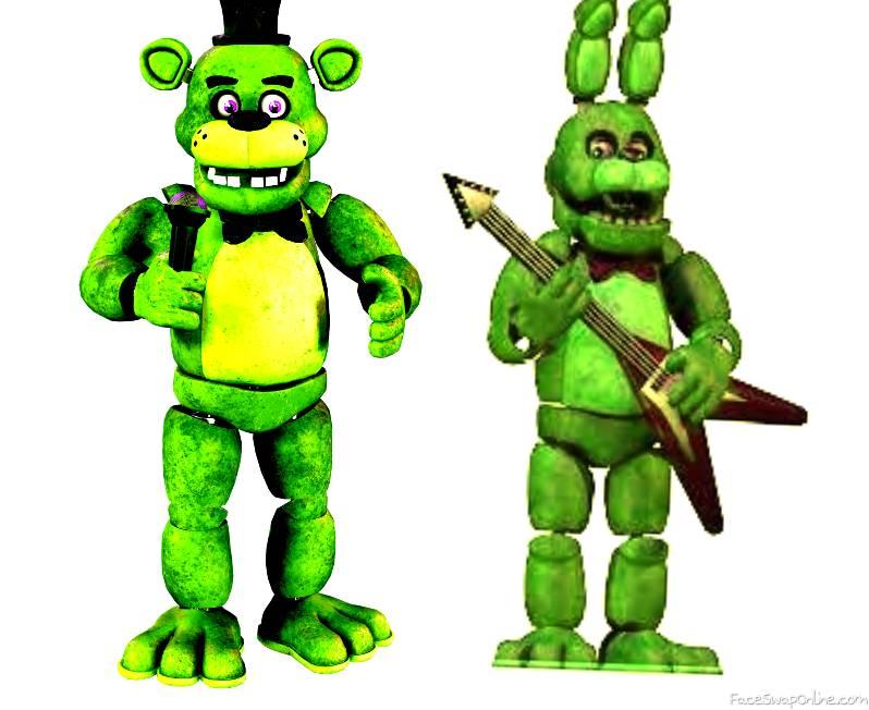 fnaf 1 fredbear and spring bonnie