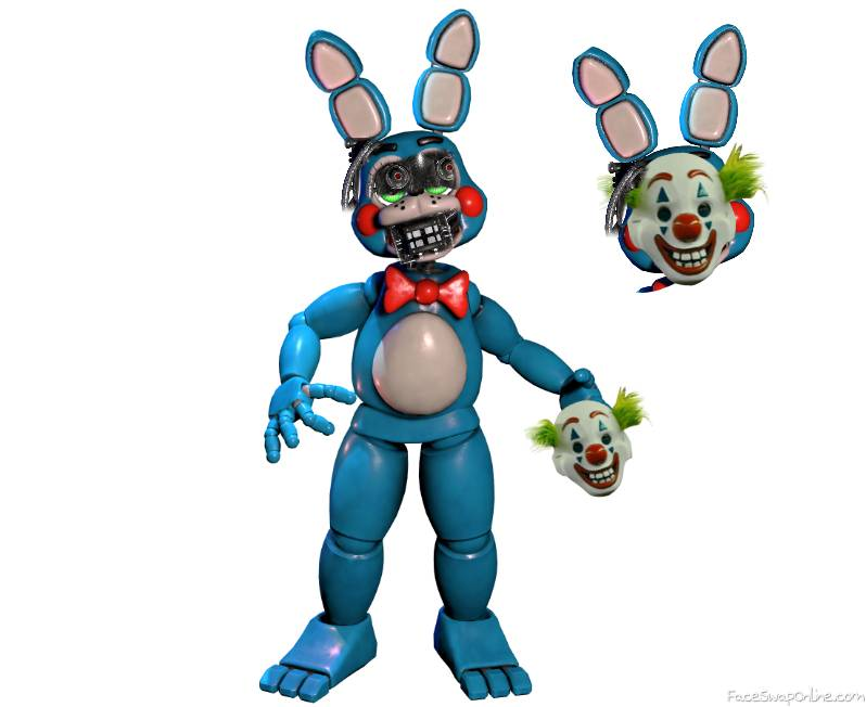 toy bonnie but after 1987 in the back stage of fnaf 1 time: 2003 -matpat