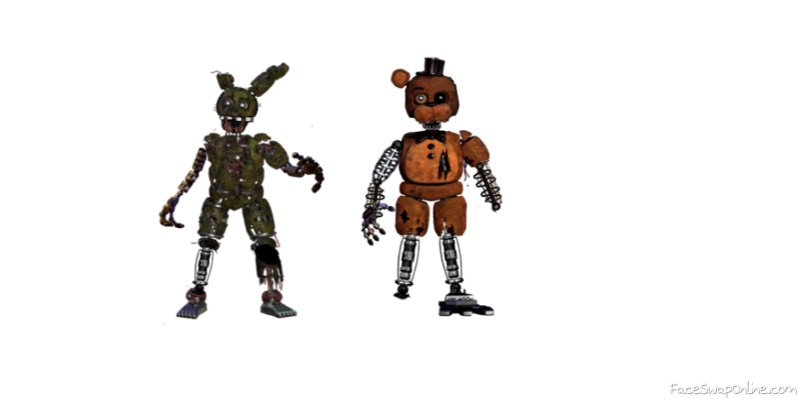 Ignited Freddy and SpringTrap