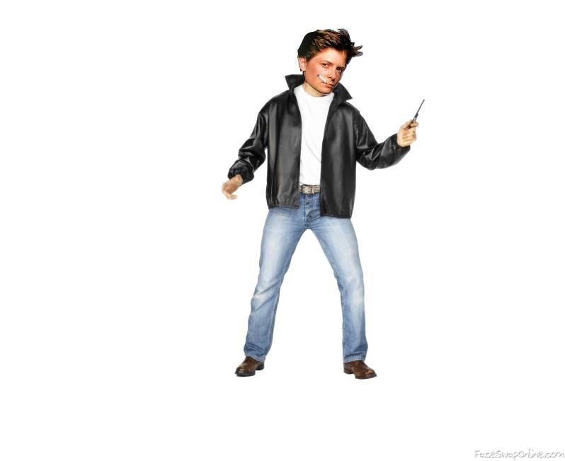 Michael J Fox as a greaser