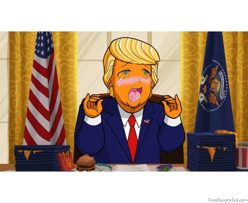 IDK what this is but here you go. Anime Trump