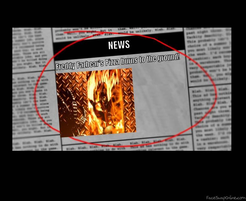 fnaf 6 ending News paper