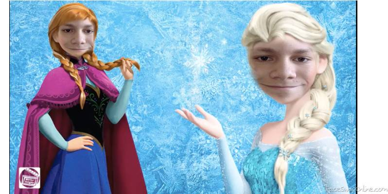 Frozen face swap