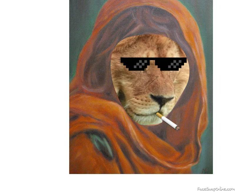 Lion painting. ( i don't know the painting's name)