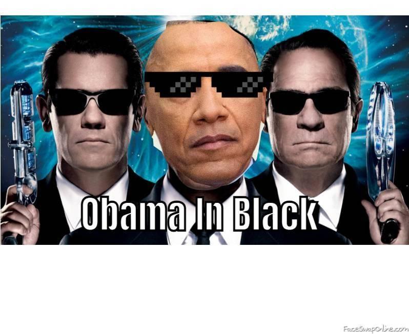 Obama in Black