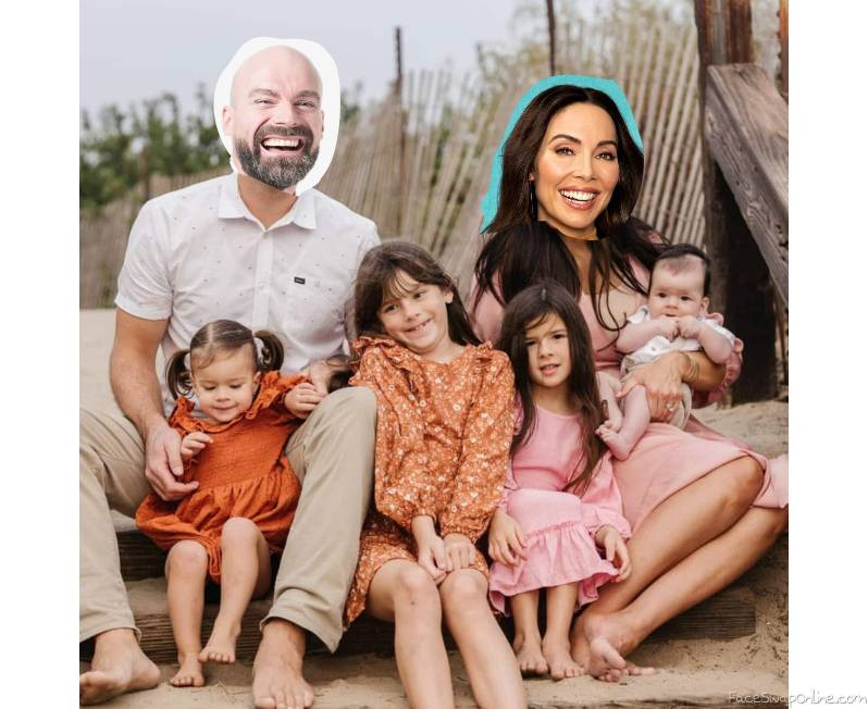 Bald Guy and Whitney Cumming's Family Picture 2021