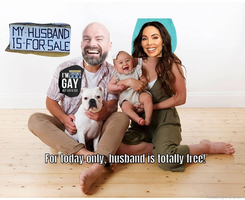 Bald Guy and Whitney Cumming's family picture 2021, with an intriguing offer...