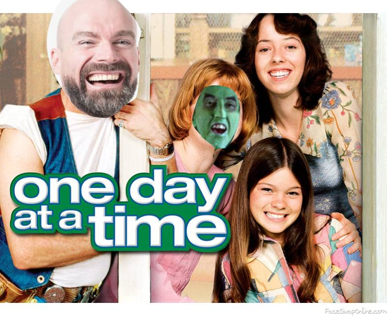 """Bald Guy and the Wicked Witch of the West in the TV show """"One Day At A Time"""""""