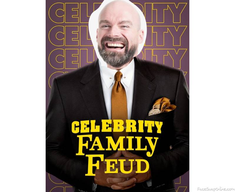 Bald Guy guest hosts Celebrity Family Feud