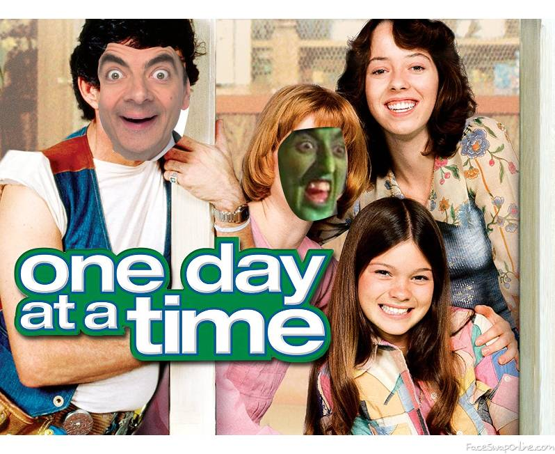 """Mr. Bean and Wicked Witch of the West in the TV show """"One Day of the time"""""""