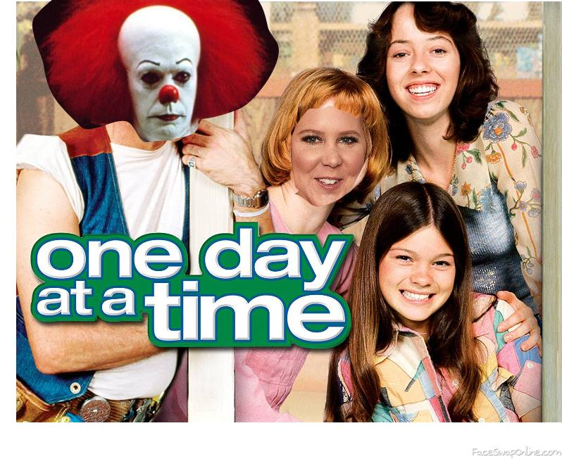 """Pennywise and Amy Schumer in the TV show """"One Day At A Time"""""""