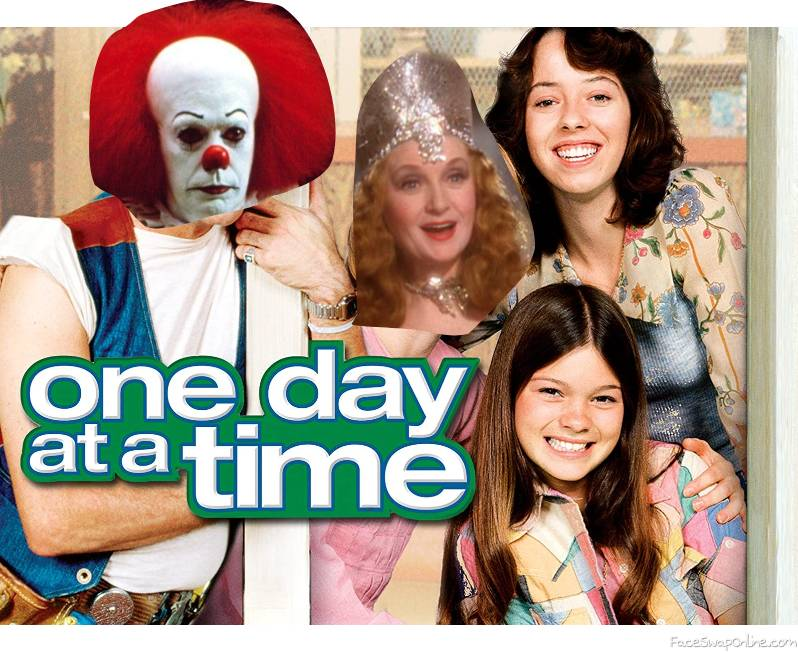 """Pennywise and Glinda in the TV show """"One Day At A Time"""""""