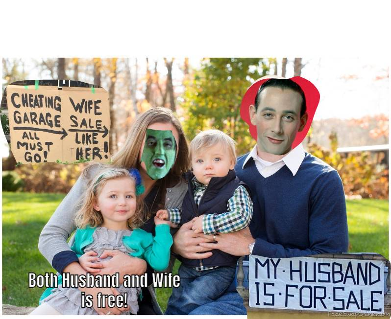 Wicked Witch of The West and Pee Wee Herman's Family Picture