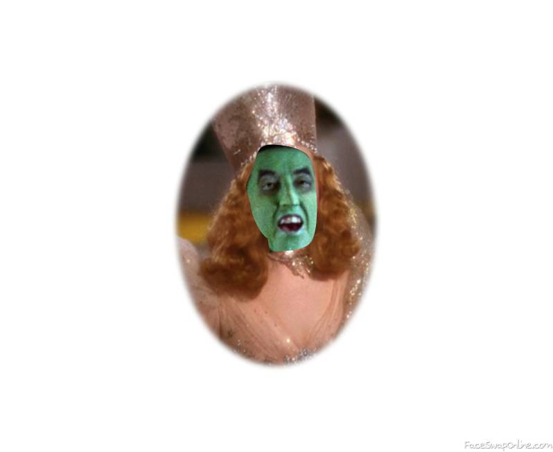 Wicked Witch of The West as Glinda the Good Witch in the Wizard Of Oz