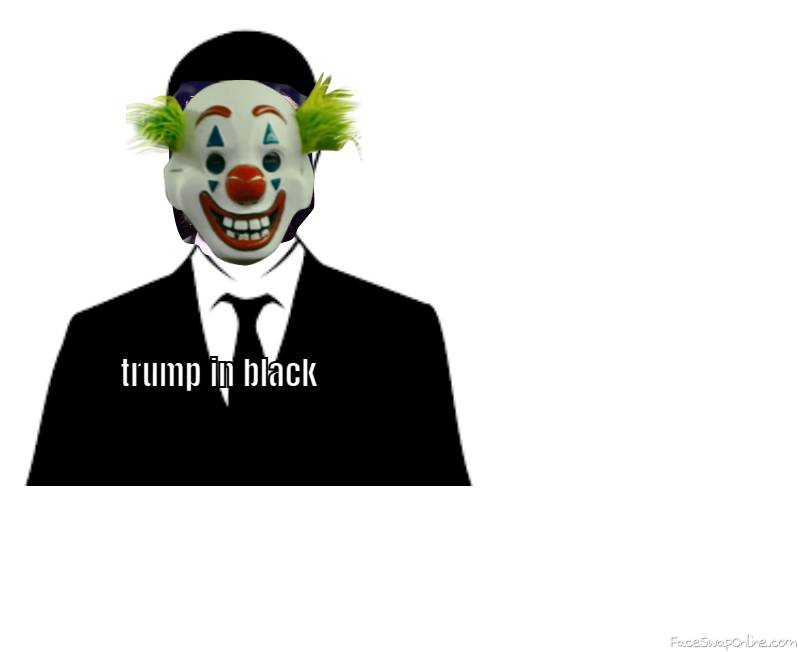 trump in black