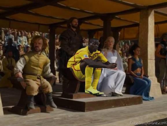 Balotelli enjoying the game of thrones