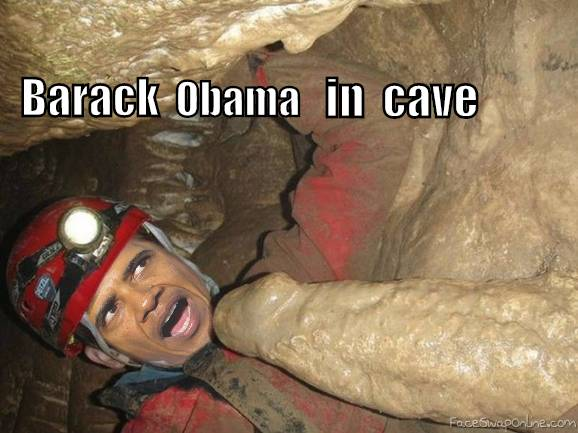 Barack Obama in the cave