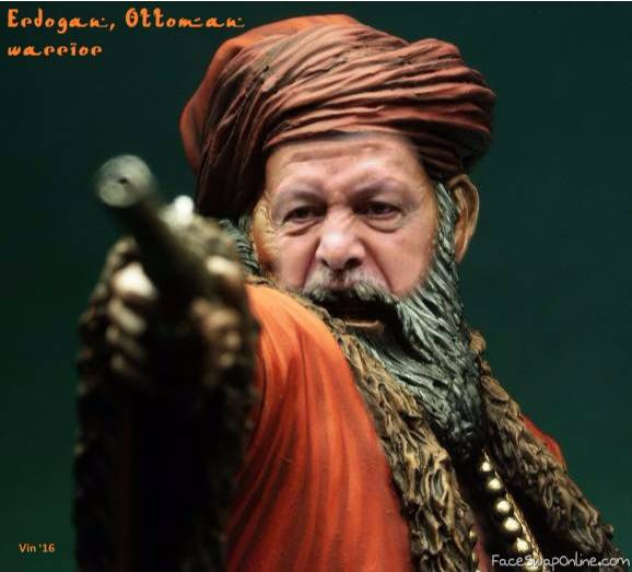 Erdogan, Ottoman warrior